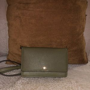 🍂🍁💚 MK Pebble Leather Small Crossbody